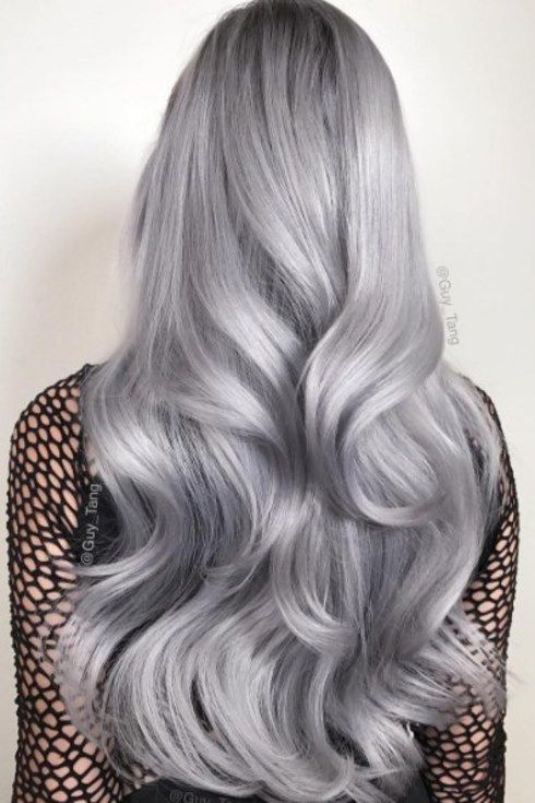 Metallic hair was major in 2016, especially after Guy Tang launched his metallic hair dye line. | 17 Hair Trends That Made 2016 Colorful AF