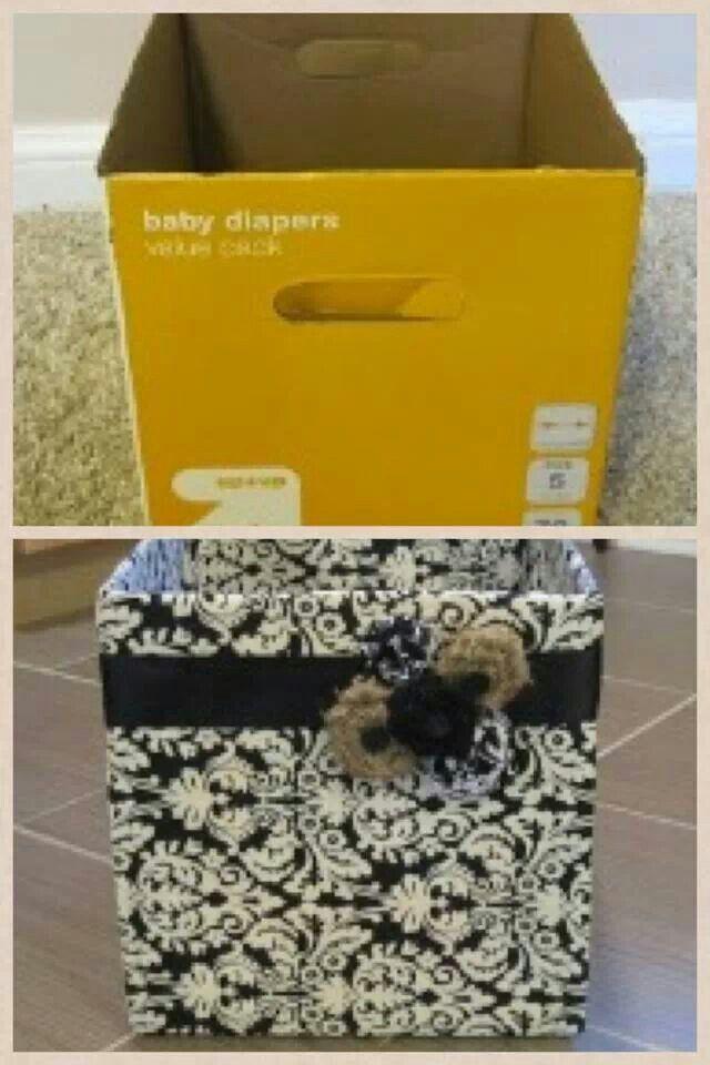 Best 25 Diaper Boxes Ideas On Pinterest Diaper Box Storage Cardboard Box Storage And Diy