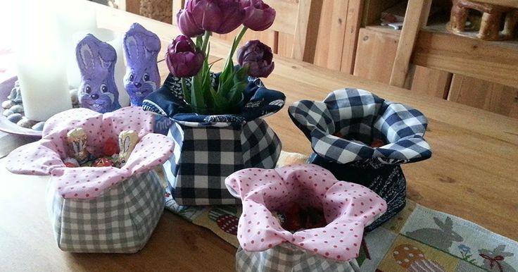 Utensilo nähen; Blütenutensilo Anleitung; Schnittmuster; Blüten- Utensilo; nähen zum Muttertag