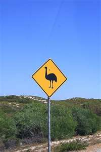 Famous Australian Road Sign, Perth, Australia