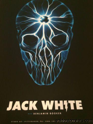 Jack White - 7/27/2014 Justin Erickson poster print Pittsburgh, PA Stage AE
