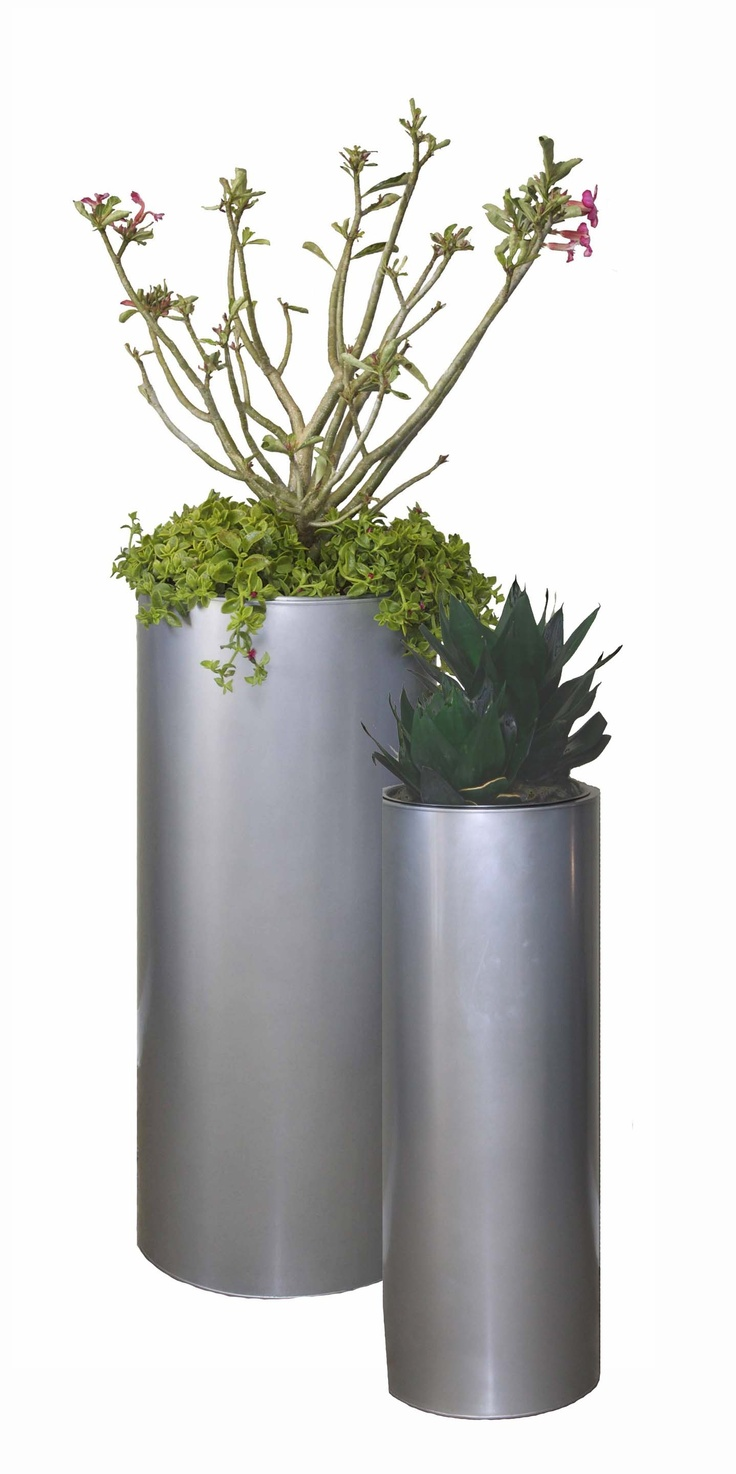 best planters images on pinterest  modern planters pots and  - modern outdoor metal planters with a contemporary clean design