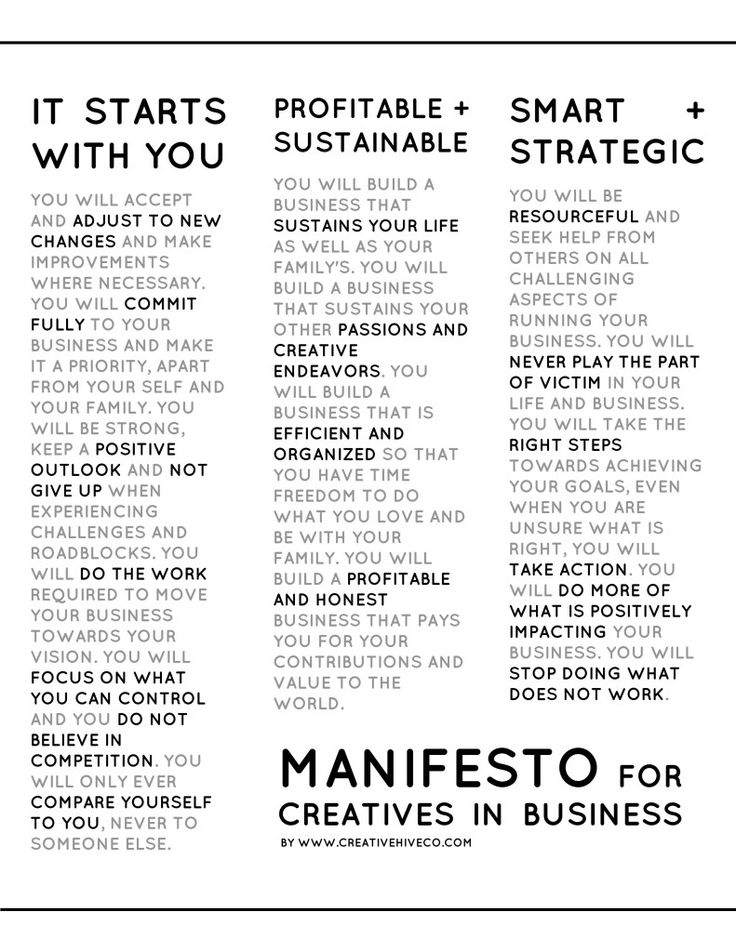 Manifesto for Creatives in Business // Mei Pak - Creative Hive