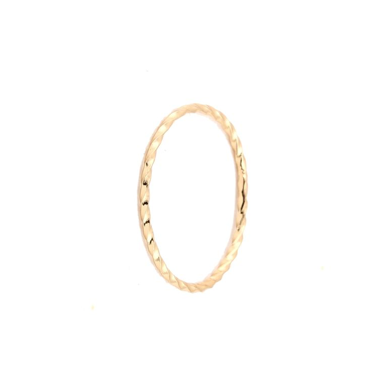 Min 1pc-Gold/silver/rose gold twist sizable stacking rings stackable women pink jewelry rings EY-R214