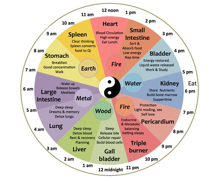 """Having trouble sleeping at a specific time? Or feeling """"off"""" at a specific time each day? The Chinese body clock is one of our favorite tools to begin deciphering the meaning behind our imbalances."""