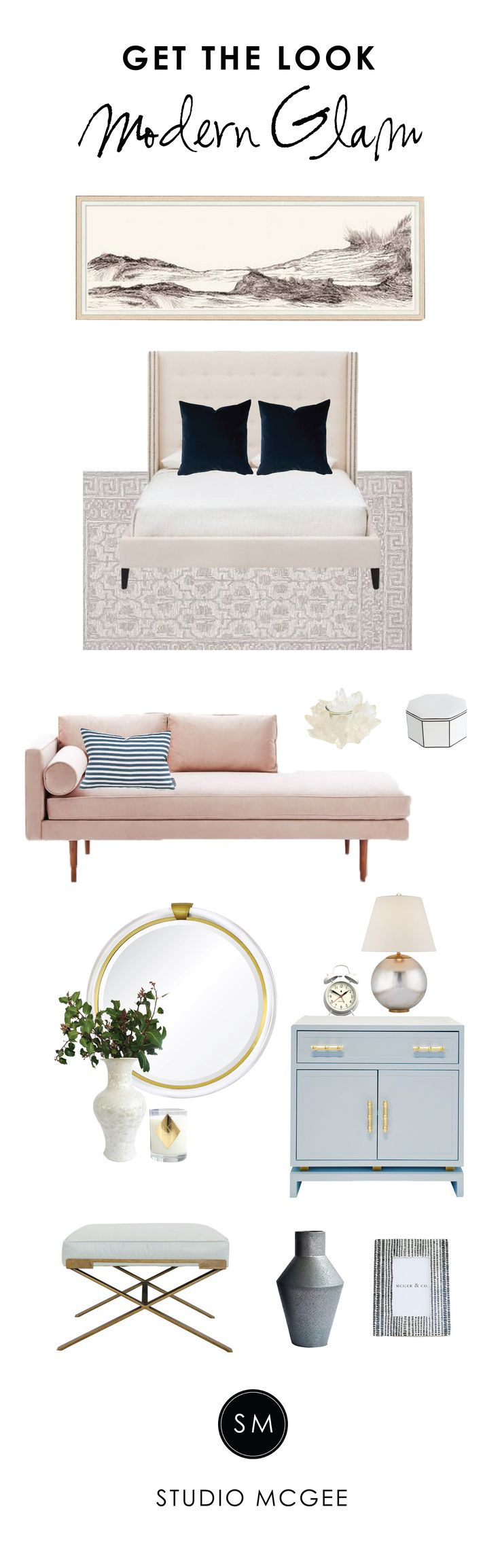 Get the Look: Modern Glam Bedroom - Studio McGee
