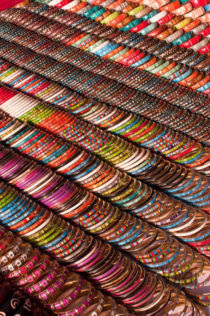 A million bangles - At the Anjuna market in Goa - India | Photo by Stephane Glsiger on Flickr - Photo Sharing!