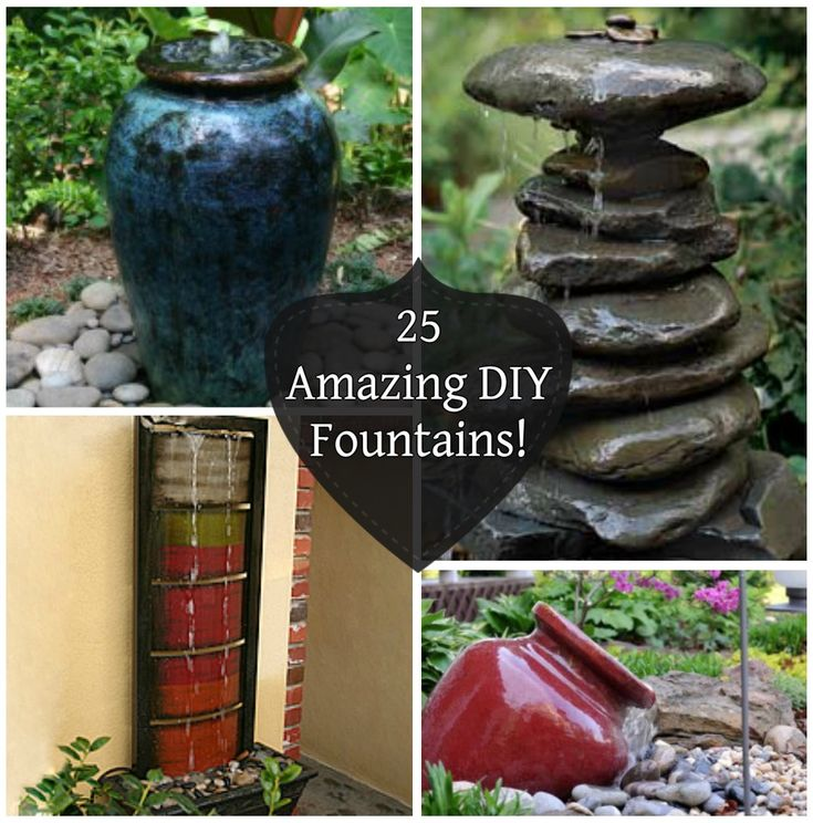 82 best images about diy fountains on pinterest backyard for Build outdoor rock water fountains
