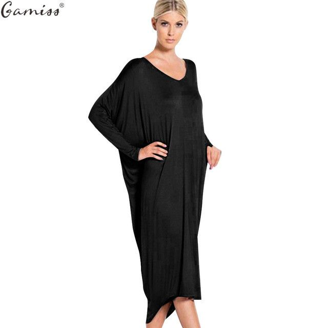Gamiss Maternity Dress Autumn Casual Loose Bat Sleeve Backless Floor-Length Long Maxi Dresses Robe Longue Femme