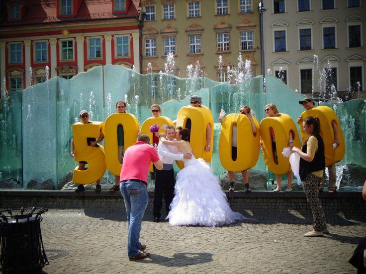 To win 5 000 000 PLN? Lucky newlyweds in Wrocław, Poland
