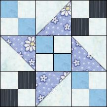 Block of Day for November 04, 2016 - The Lost Goslin-strip piecing-The pattern may be downloaded until:Tuesday, November 29, 2016.