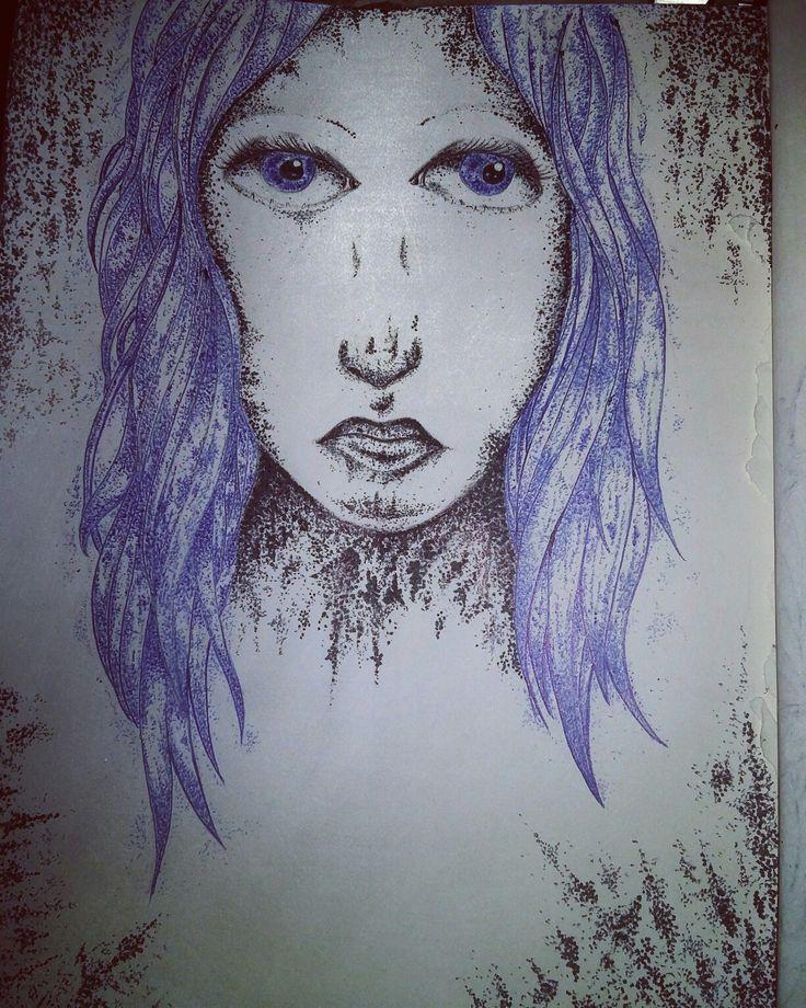 Dotting lady
