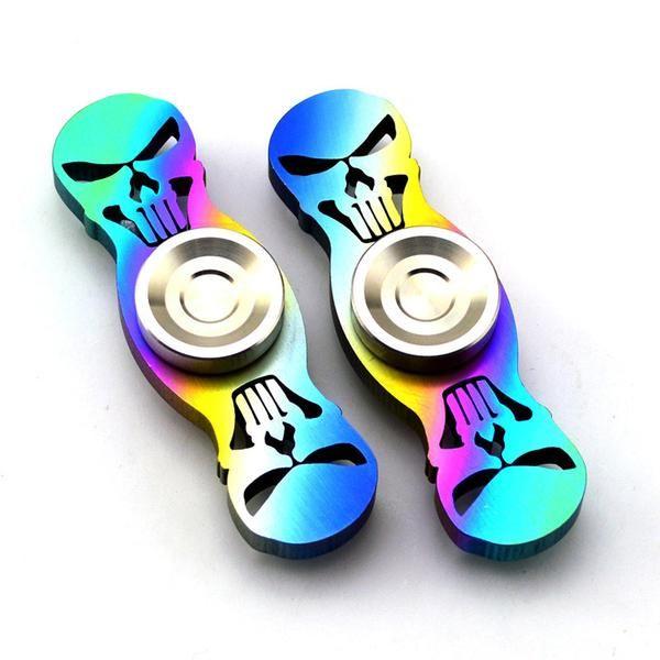 Colorful Skull Head Fidget Spinners Anti Stress. BUY NOW: https://www.fromouttathisworld.com/products/colorful-skull-head-fidget-spinners-anti-stress