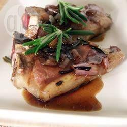 Costeleta de cordeiro ao vinagre balsâmico @ allrecipes.com.br