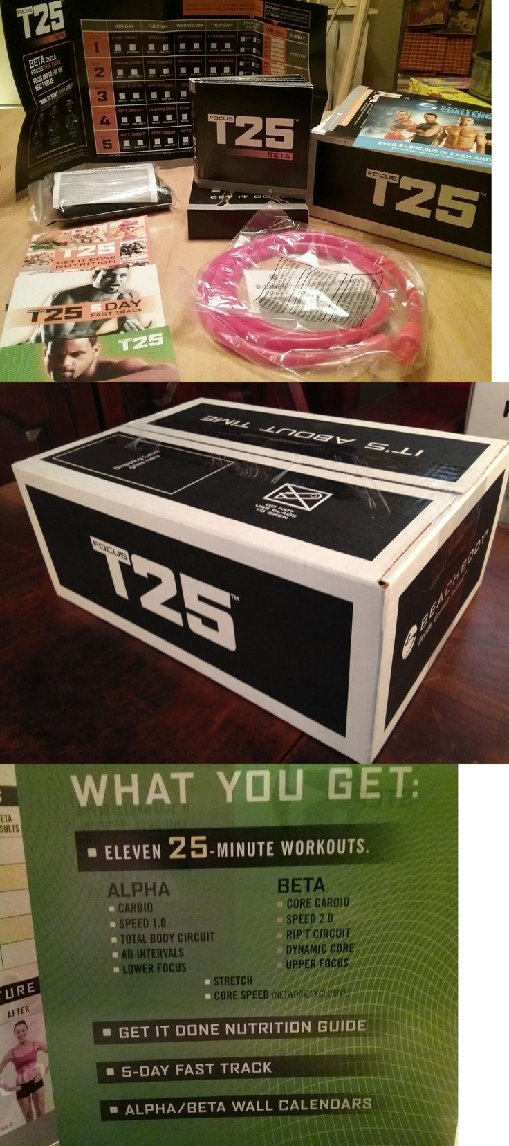 Fitness DVDs 109130: New Beachbody Sean Ts Focus T25 Workout Set Sealed Dvds Complete Base Kit Nib -> BUY IT NOW ONLY: $92.99 on eBay!