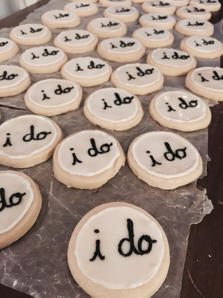 """Sugar cookies icing """"I Do"""" hardens bridal shower, bachelorette party, wedding"""