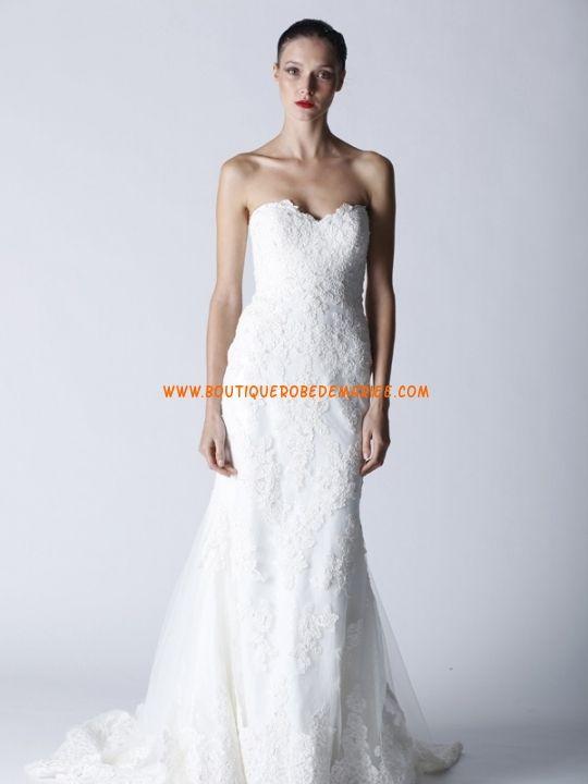 Robe de mariée collection dentelle col coeur