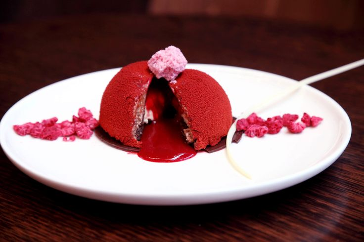 Raspberry Chocolate Dome - To view our new winter menu visit this link http://www.kokoblack.com/news/new-winter-menu-arrives/