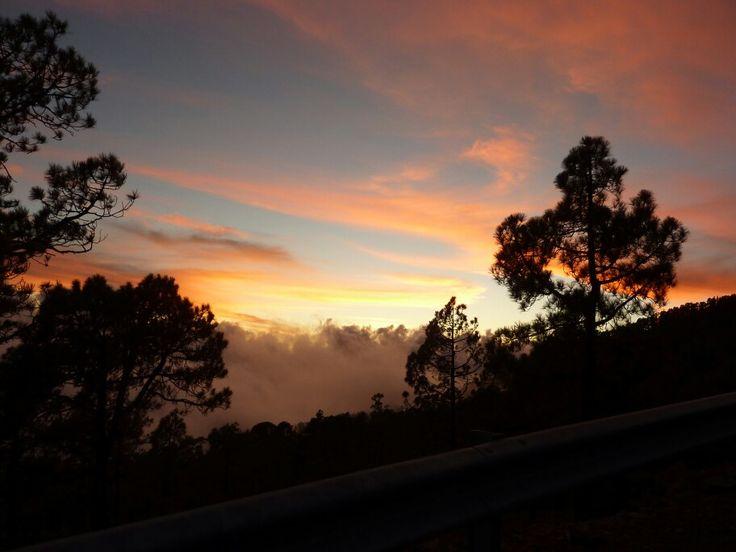 Sunset teide tenerife beautiful ♡