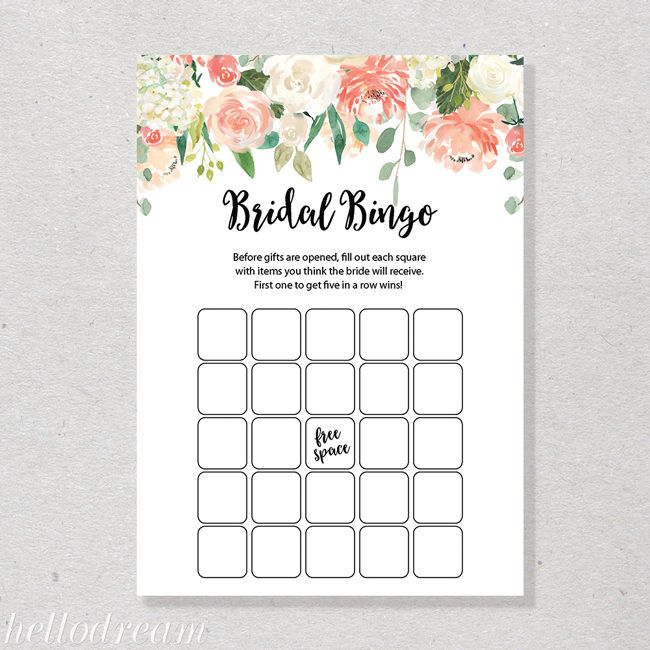 The  Best Bridal Shower Bingo Ideas On   Free Bridal