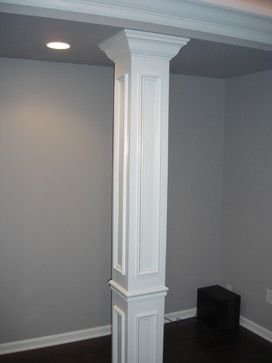 hide unsightly support beams with trim if we finish the basement