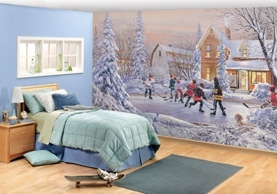 Remarkable rooms with murals by http sportsdecorating for Dolphin paradise wall mural