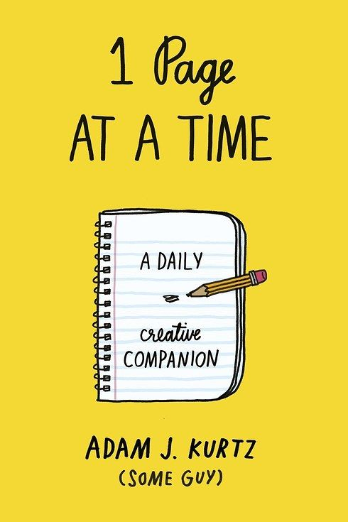 1 Page at a Time by Adam J. Kurtz | 18 Journals That Will Give Your Brain A Workout