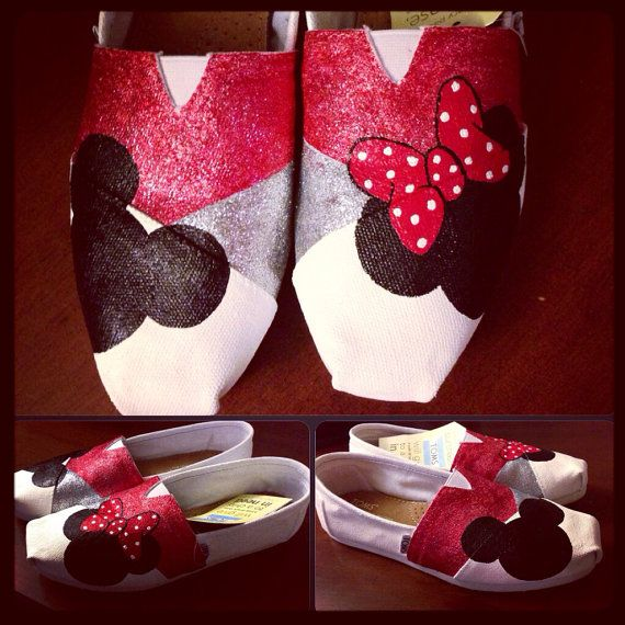 Disney Toms  Red by BibidiBobidiBoutique on Etsy ~Super cute! I know someone who would adore these.