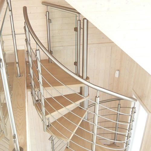 Stainless Steel Hand Railing and Spiral Staircase with beautiful design. #Stainlesssteel #HandRailing