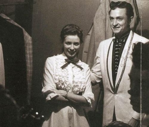 June Carter Cash (June 23, 1929 – May 15, 2003) with Johnny Cash