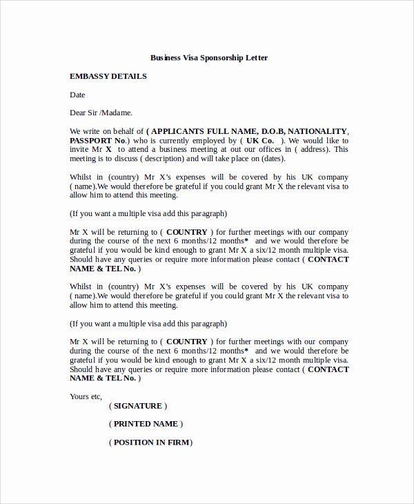 Sponsor Letter For Student Inspirational 12 Sample Visa Sponsorship Letters Pdf Doc Sponsorship Letter I Am Poem Template Professional Reference Letter