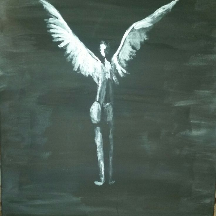 Angel acryl painting by canvas