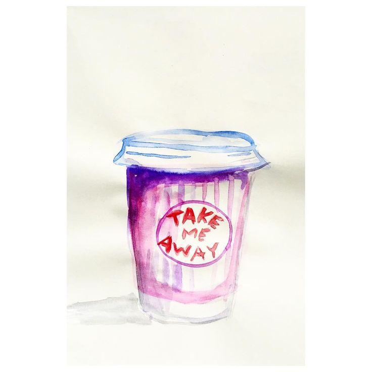 Coffee in well designed paper cups.  #takemeaway #emmapilipon