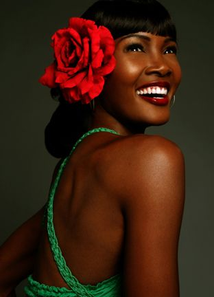 Angelique Noire --black pin-up model. The article talks about all kinds of cool stuff but I need to check out her Natural Hair YouTube videos. Wearing a wig in these pictures though.