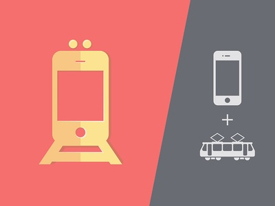 Icon concept for public transport app