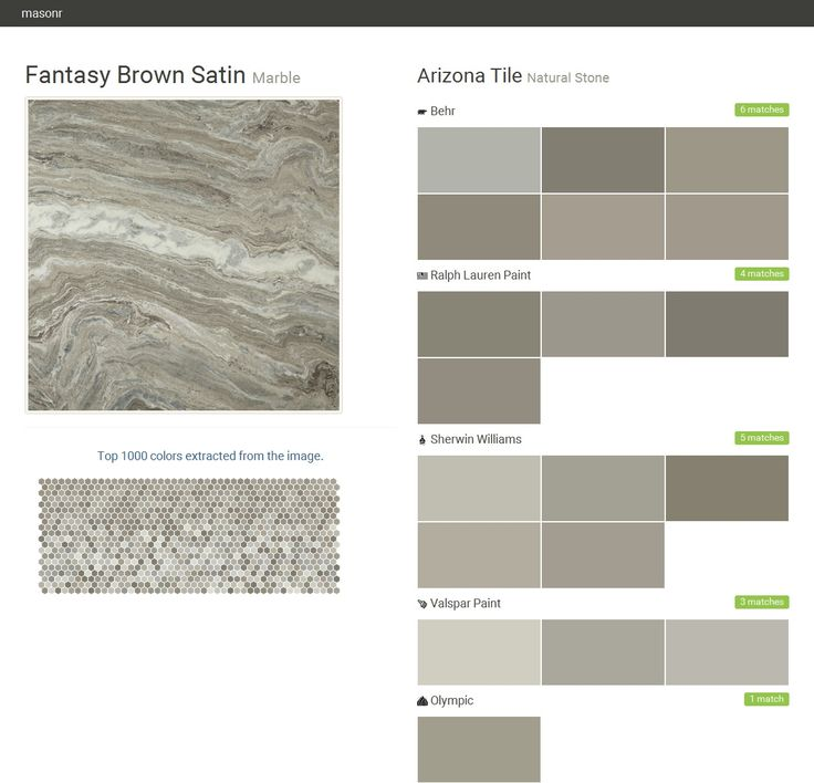 What Color Matches With Brown: Fantasy Brown Satin. Marble. Natural Stone. Arizona Tile