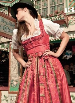 This Is Tracht Which Means Traditional Fashion It Refers Mostly To German
