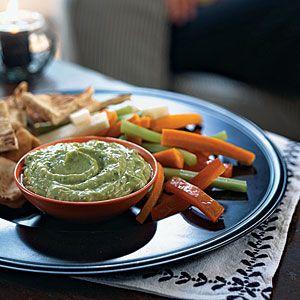 Low-Calorie Dips and Spreads | Avocado-Yogurt Dip with Cumin | CookingLight.com