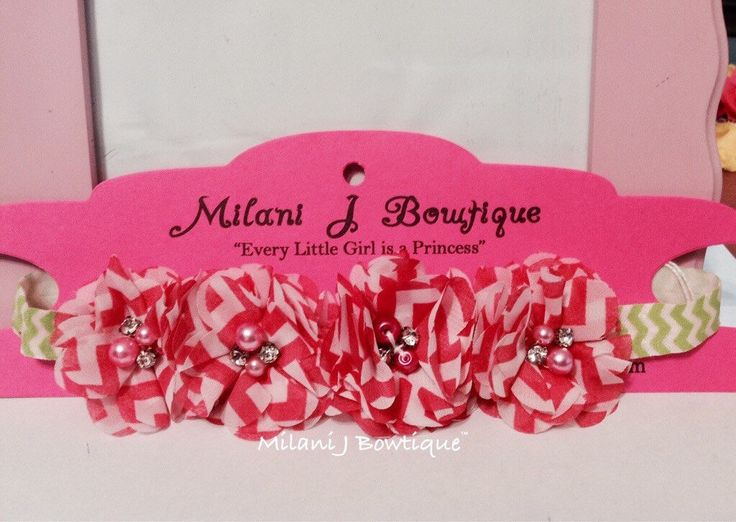 Hot Pink & White Chevron Flower Crown/Flower Wreath by MilaniJBowtique on Etsy