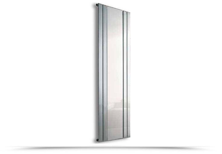 Termoarredo Lazzarini cromato 1700 x 600 con vetro a specchio
