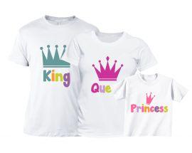 Set tricouri familie Fetita la castel