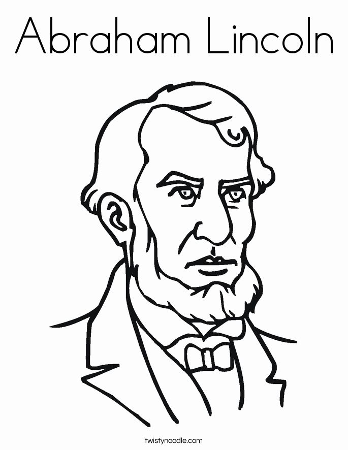 Abraham Lincoln Coloring Page Fresh Abraham Lincoln Coloring Page