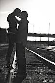 engagement pictures on railroad tracks: Kid, Railroad Track