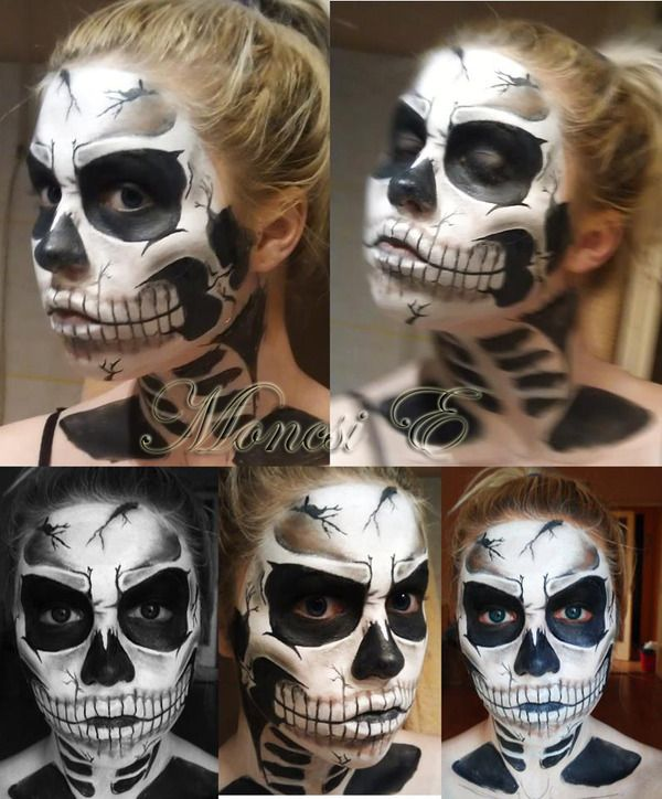 skull - Skeleton Face Paint For Halloween