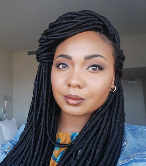 Hey Sistas! Crochet Faux Locs are the perfect protective style for natural hair this spring! They are extremely light and take significantly less time to install than individual faux locs.