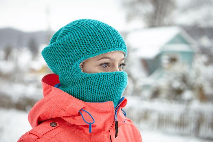 Knitted Balaclava Hat Winter Mask Hippie Hood Ski Knit