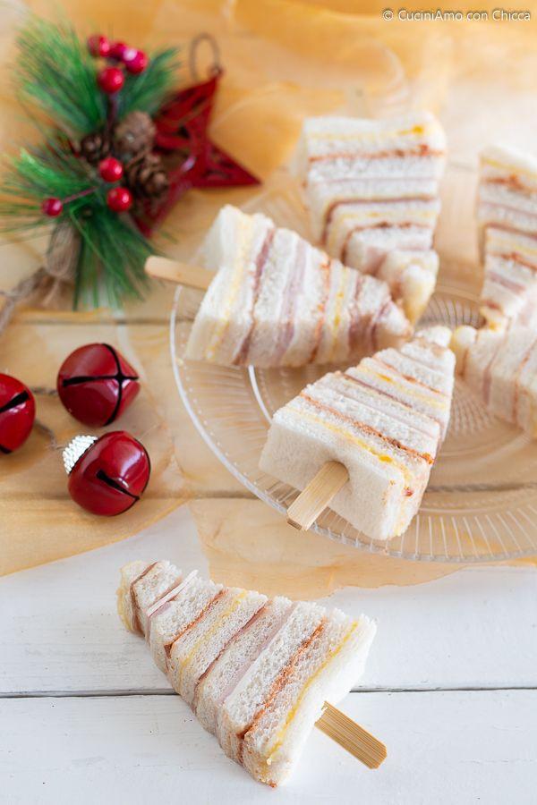 Antipasti Per Buffet Di Natale.Alberelli Di Tramezzini Ricette Antipasti Di Natale Dolcetti Di Natale