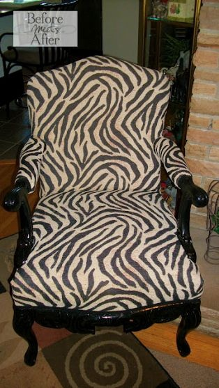 How to Upholster a Chair - using foam, batting, and some funky fabric. By @LisaPrints Som Zebras, Decor Ideas, Furniture Makeovers, How To Upholstered A Chairs, Upholstered Chairs, Zebras Prints, Upholstery Ideas, Prints Chairs, Prints Upholstered