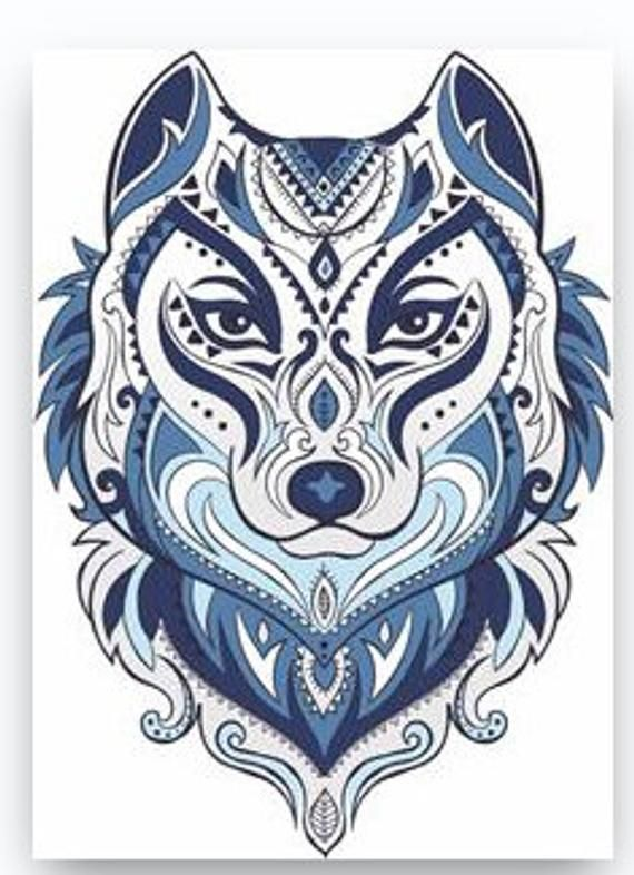 Tribal Style Wolf Animal Design Wall Sticker Art Bedroom Vinyl Decal D8 Wolf Totem Totem Tattoo Tribal Fashion