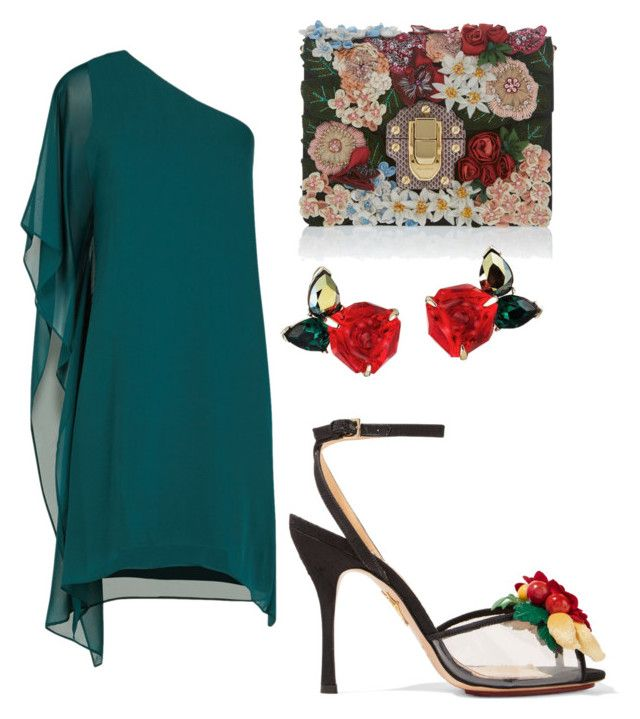 """Green Rose"" by ariadna-sr on Polyvore featuring BCBGMAXAZRIA, Charlotte Olympia and Dolce&Gabbana"